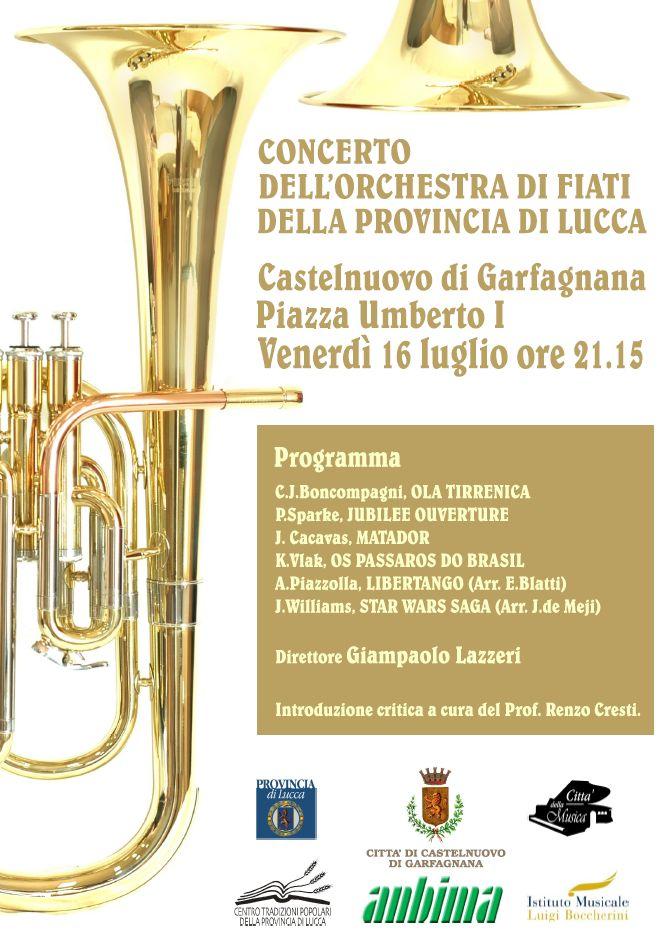 locandina concerto Castelnuovo di Garfagnana