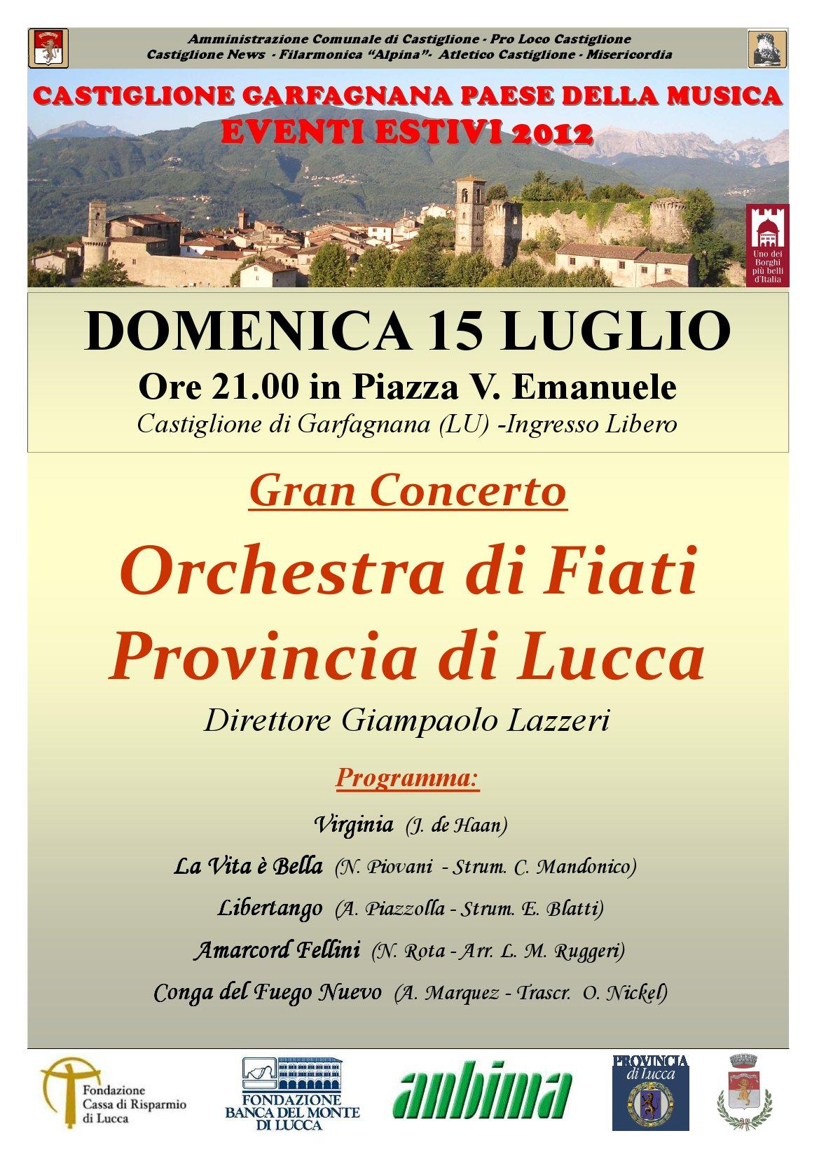 Concerto Orchestra Fiati 15 luglio 2012